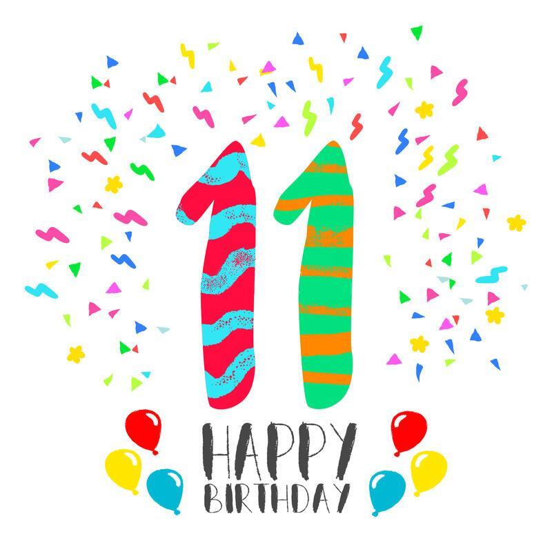 Открытки на день рождения на 11 летие, днем рождения стихах