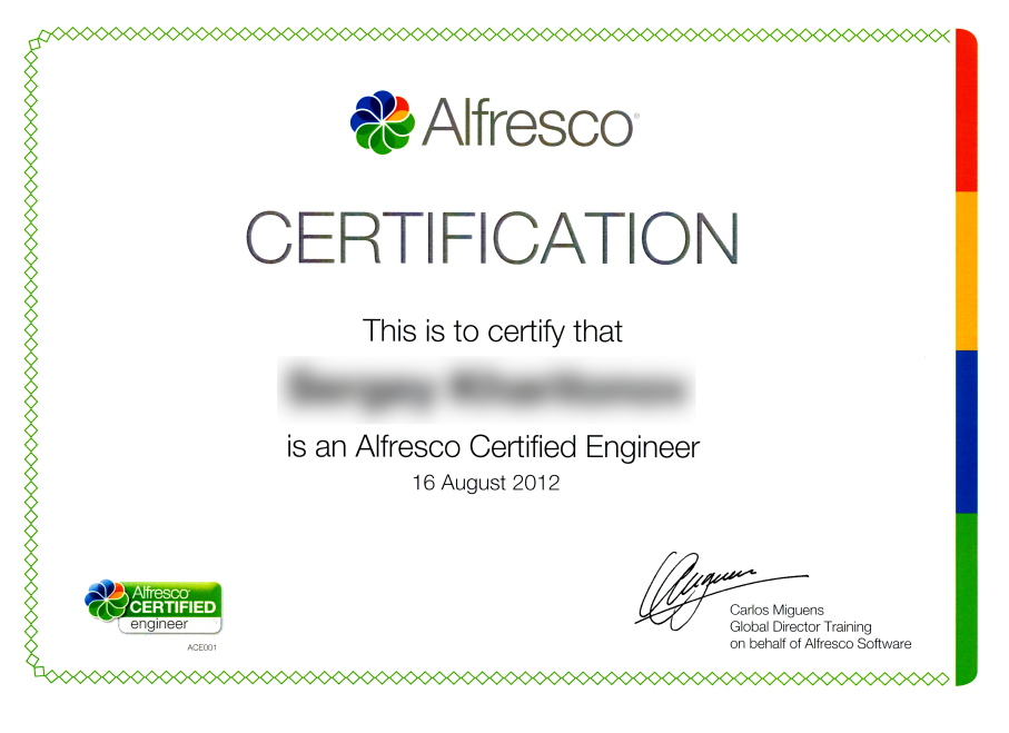 Alfresco Sertified Engineer